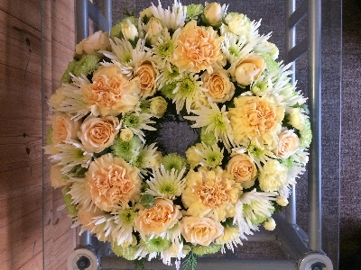 Cream wreath