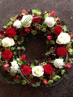 Red and lime wreath