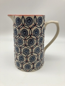 Blue patterned Jug