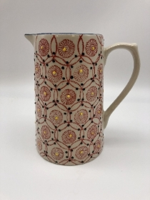 Red patterned jug