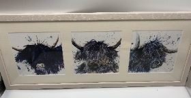 Splatter scruffy cow trio
